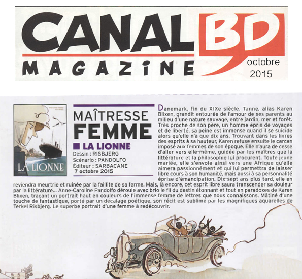 Lionne (la) - Canal BD Magazine