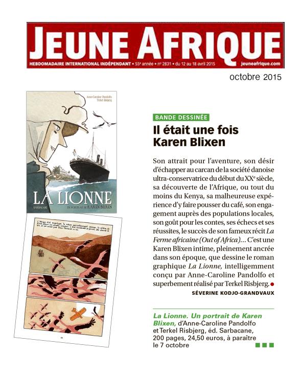 Lionne (la) - Jeune Afrique