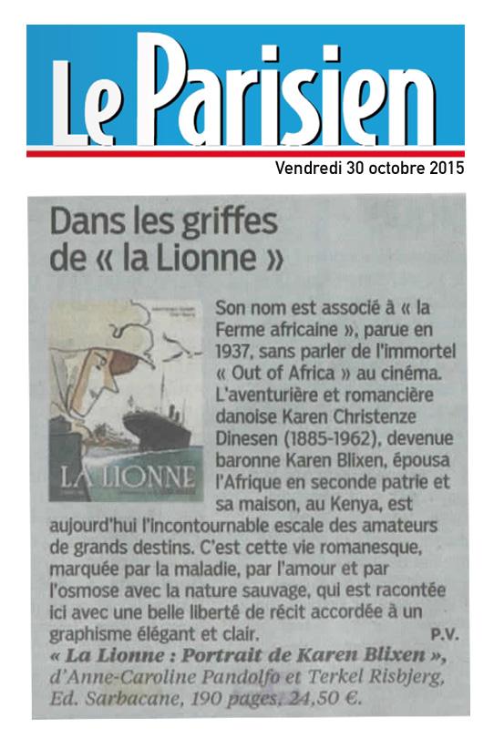 Lionne (la) - Le parisien