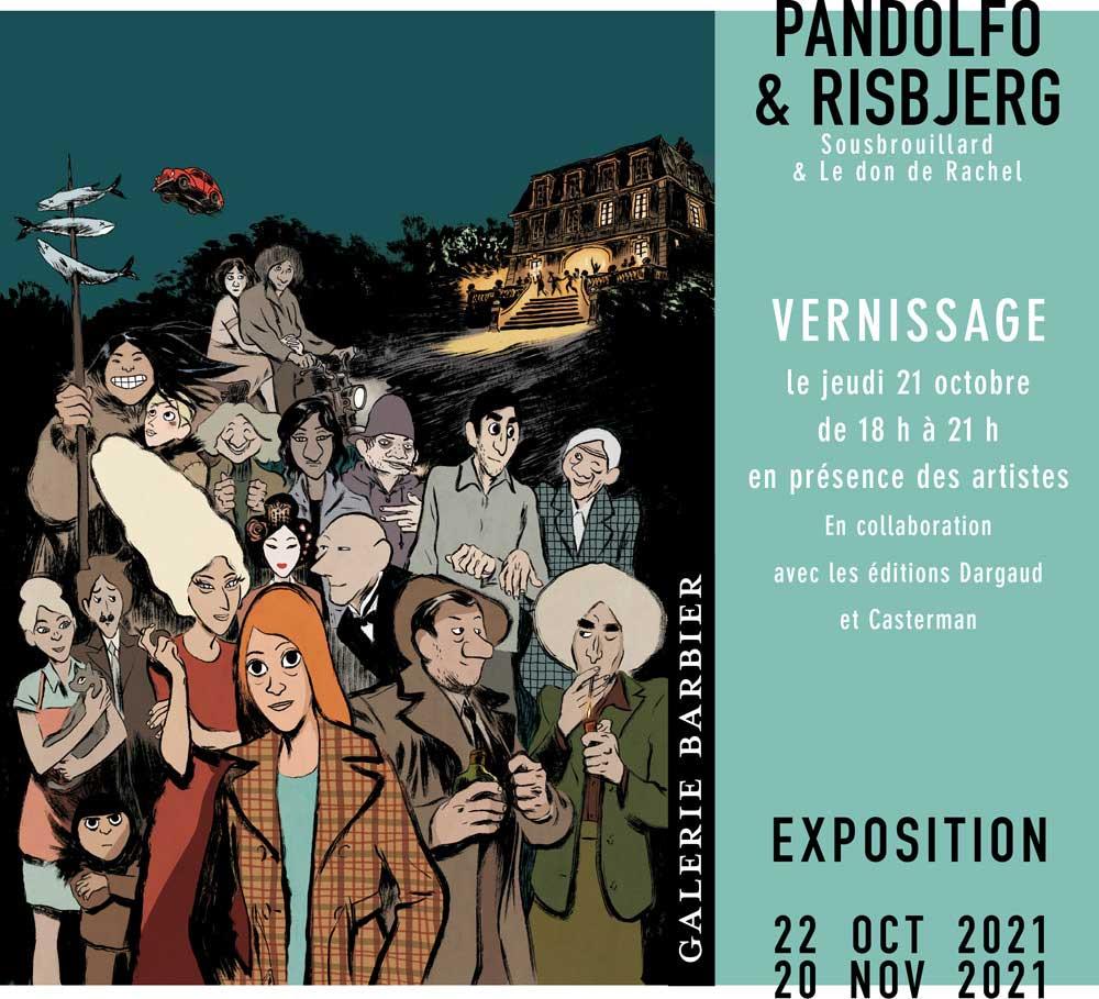 exposition des originaux de Sousbrouillard et du Don de Rachel, galerie Barbier. Vernissage le 21 octobre 2021.